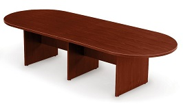 10 Mahogany Racetrack Conference Table 3