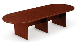 10 Mahogany Racetrack Conference Table