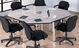 BUSH BUSINESS FURNITURE Aspen Rectangle Table 3