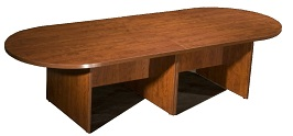 Boss 10Ft Race Track Conference Table Cherry 3