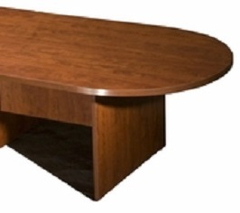 Boss 10Ft Race Track Conference Table Cherry