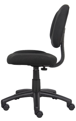 Boss Fabric Deluxe Posture Chair Black 2