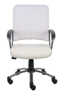 Boss Mesh Back Task Chair with Pewter Finish 2