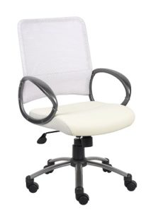 Boss Mesh Back Task Chair with Pewter Finish