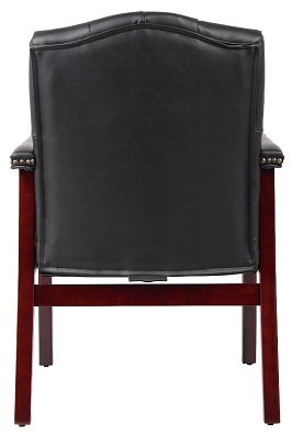 Boss Traditional Black Caressoft Guest Chair Black 2