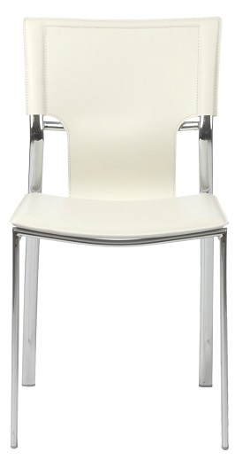 Euro Style 17212WHT Vinnie Side Chair