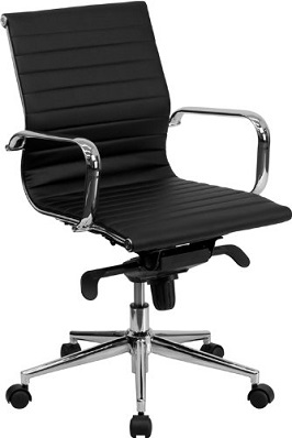The Mid Back Armless Black Ribbed Conference Chair From Flash Furniture  Could Be Your Best Pick. With Casters For Easy Mobility Through The Office,  ...