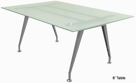 Frosted Glass Conference Tables - 6