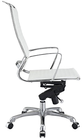 LexMod Vibe Modern Leather Highback Office Chair, White 2