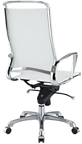 LexMod Vibe Modern Leather Highback Office Chair, White 3