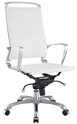 LexMod Vibe Modern Leather Highback Office Chair