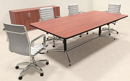 A Great Solution For Conference Is Boat Shaped Conference Tables - 12 foot boat shaped conference table
