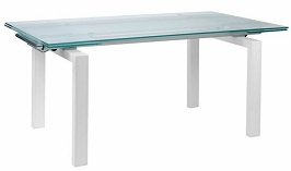 Modern Wenge & Frosted Glass Executive Desk 2