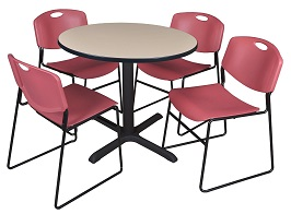 Regency Cain 42-Inch Round Breakroom Table 3