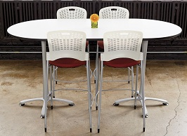 Safco Products 2553DWSL Cha-Cha Racetrack Table 3