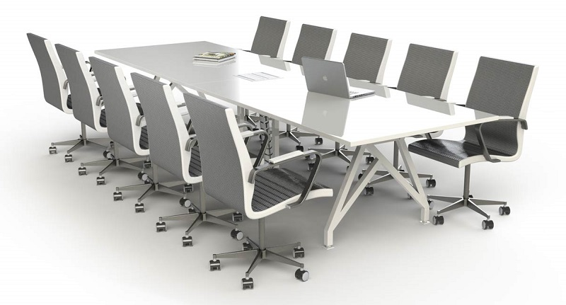 Improve The Style Quotient Of Your Room With The White Conference - Black conference room table