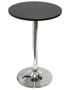 Winsome Wood 29 Round Dining Table; Black w-Metal Leg 2