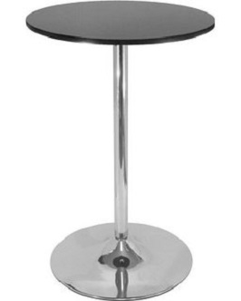 Winsome Wood 29 Round Dining Table; Black w-Metal Leg 3