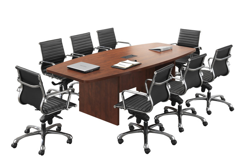 Boat shaped conference room tables