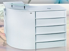 BEAUTY L-SHAPED SALON RECEPTION DESK