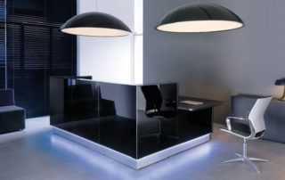 Black Reception Desk