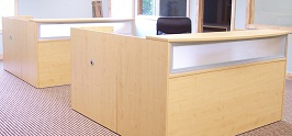 Maple U-Shaped Reception Desk 2