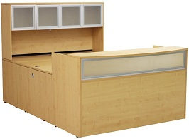 Maple U-Shaped Reception Desk