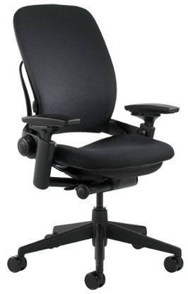 Steelcase Leap Fabric Chair, Black