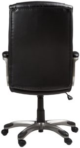 amazon basics high-back executive chair- black