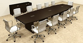 14 Boat Shaped Conference Table 2