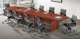 14 Boat Shaped Conference Table