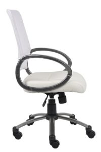 Boss Mesh Back Task Chair with Pewter Finish 3