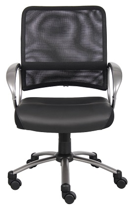 Boss Mesh Back with Pewter Finish Task Chair 3