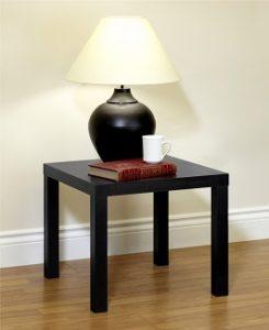 DHP Parsons Modern End Table Black Wood Grain 2