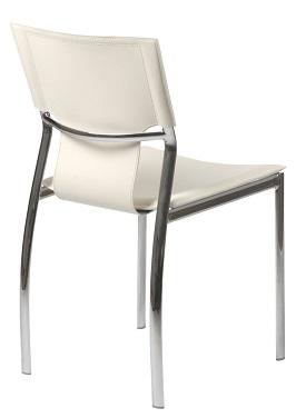 Euro Style 17212WHT Vinnie Side Chair 3