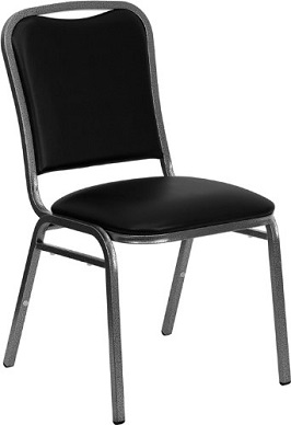 Flash Furniture NG-108-SV-BK-VYL-GG Hercules Series