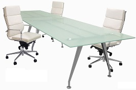 Frosted Glass Conference Tables - 6 2