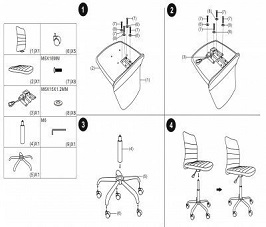 GreenForest Office Desk Task Chair 3