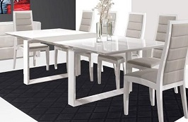 Modern White Lacquer Conference Table 3