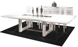 Modern White Lacquer Conference Table