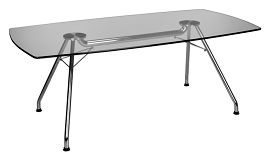 OFM GT3977 Glass Conference Table 2