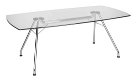 OFM GT3977 Glass Conference Table