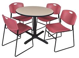 Regency Cain 42-Inch Round Breakroom Table 3