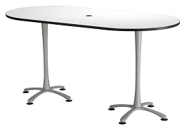 Safco Products 2553DWSL Cha-Cha Racetrack Table