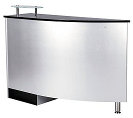 Good example of small white reception desk