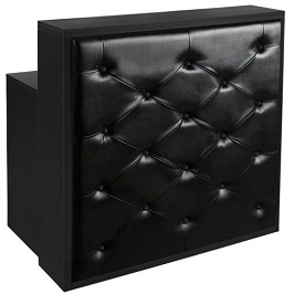 Elegant Black Reception Desk RD-34BLK