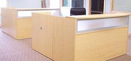 Maple U-Shaped Reception Desk 2