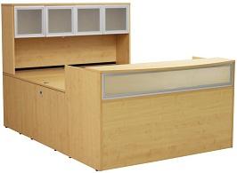 Maple U-Shaped Reception Desk