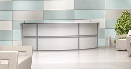 Its probably best white counter reception desk ever