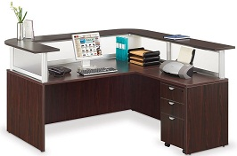 Officient Neoterik L-shaped Reception Desk 2